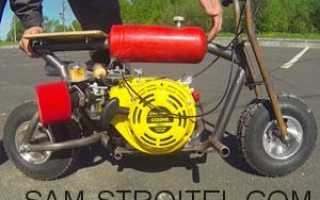 Минибайк своими руками с двигателем от мотоблока