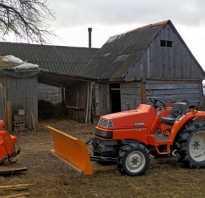 Садовый трактор с навесным оборудованием