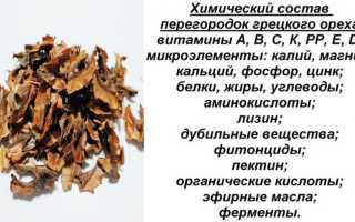 Лечебные свойства ореховых перегородок