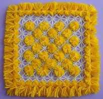 Плетение на рамке с гвоздями схемы пошагово