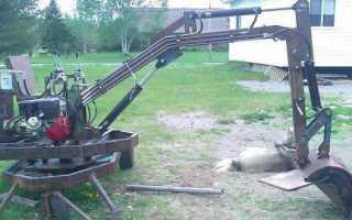 Самодельный трактор экскаватор