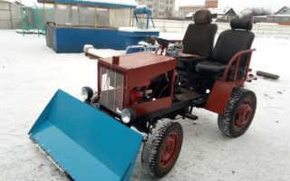 Минитрактор для уборки снега своими руками
