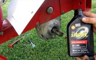 Как слить масло с мотоблока