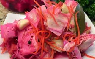 Рецепт острой капусты быстрого приготовления