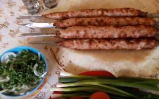 Приготовление люля кебаб на мангале