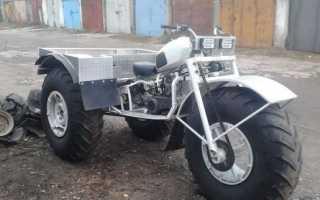 Трицикл на шинах низкого давления своими руками