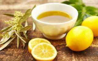 Смесь оливкового масла лимонного сока и меда