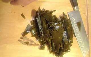Морская капуста сушеная польза