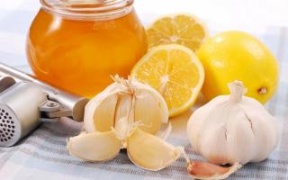 Лимон с чесноком и медом рецепт
